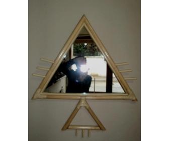 Miroir en bambou id e cadeau de la tunisie for Miroir tunisien