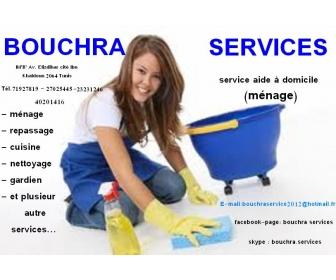 Cherche femme de ménage couchante tunis