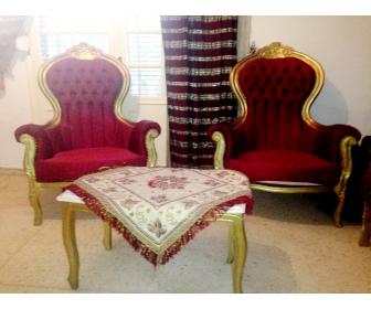 Salon louis 16 avec deux rideaux vendre for Salon louis 16
