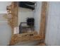 Miroir contour en bois rouge sur commande