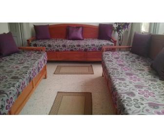 salon occasion en bois blenz. Black Bedroom Furniture Sets. Home Design Ideas